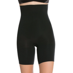 Higher Power Short in Black, worn by model in front view product image.