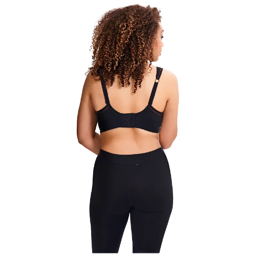 Sculptresse Non Padded Sports Bra in Black - back view