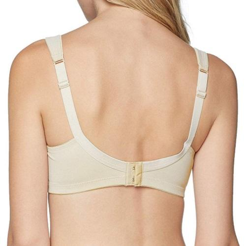 Twin Underwire Bra in Desert, back view product image.