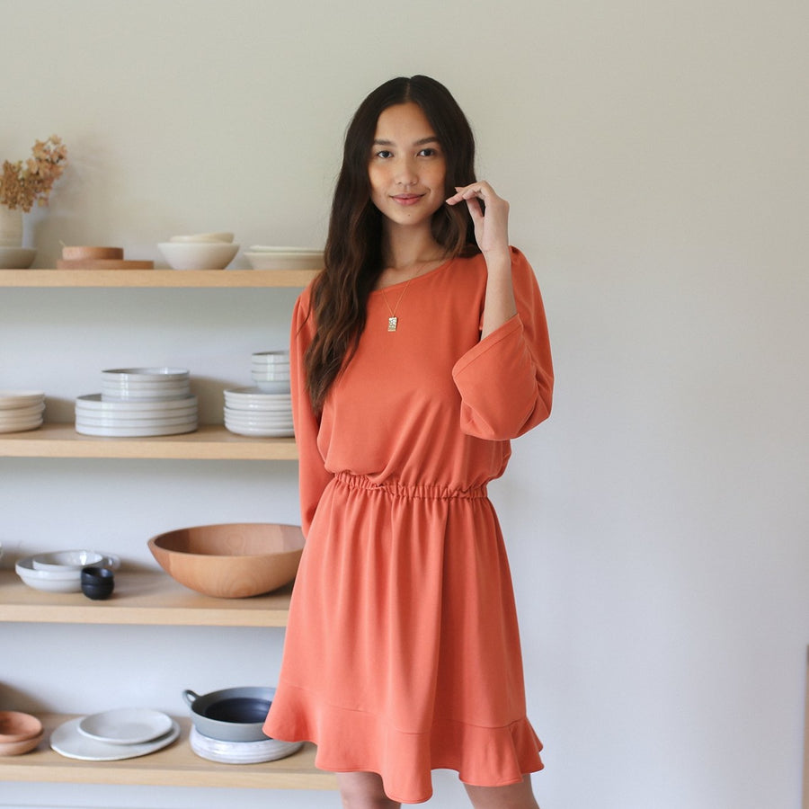 Sawyer Dress - Orange