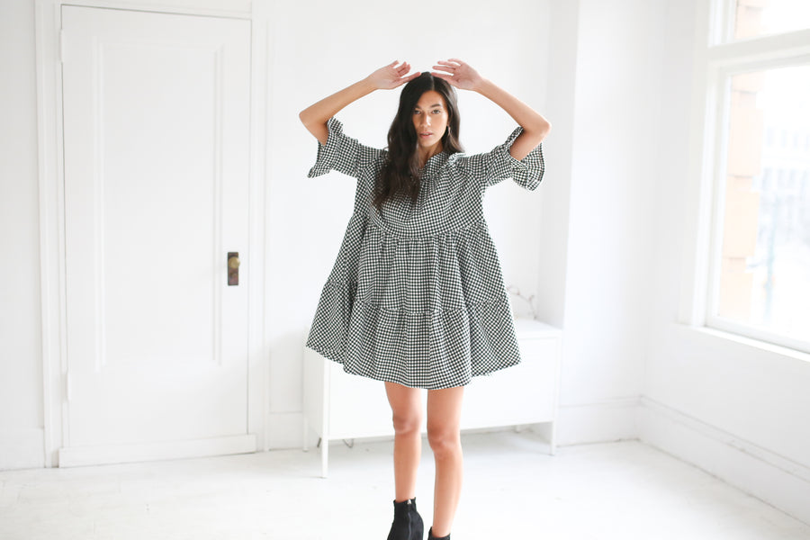 Maxwell Mini Dress - Gingham Check