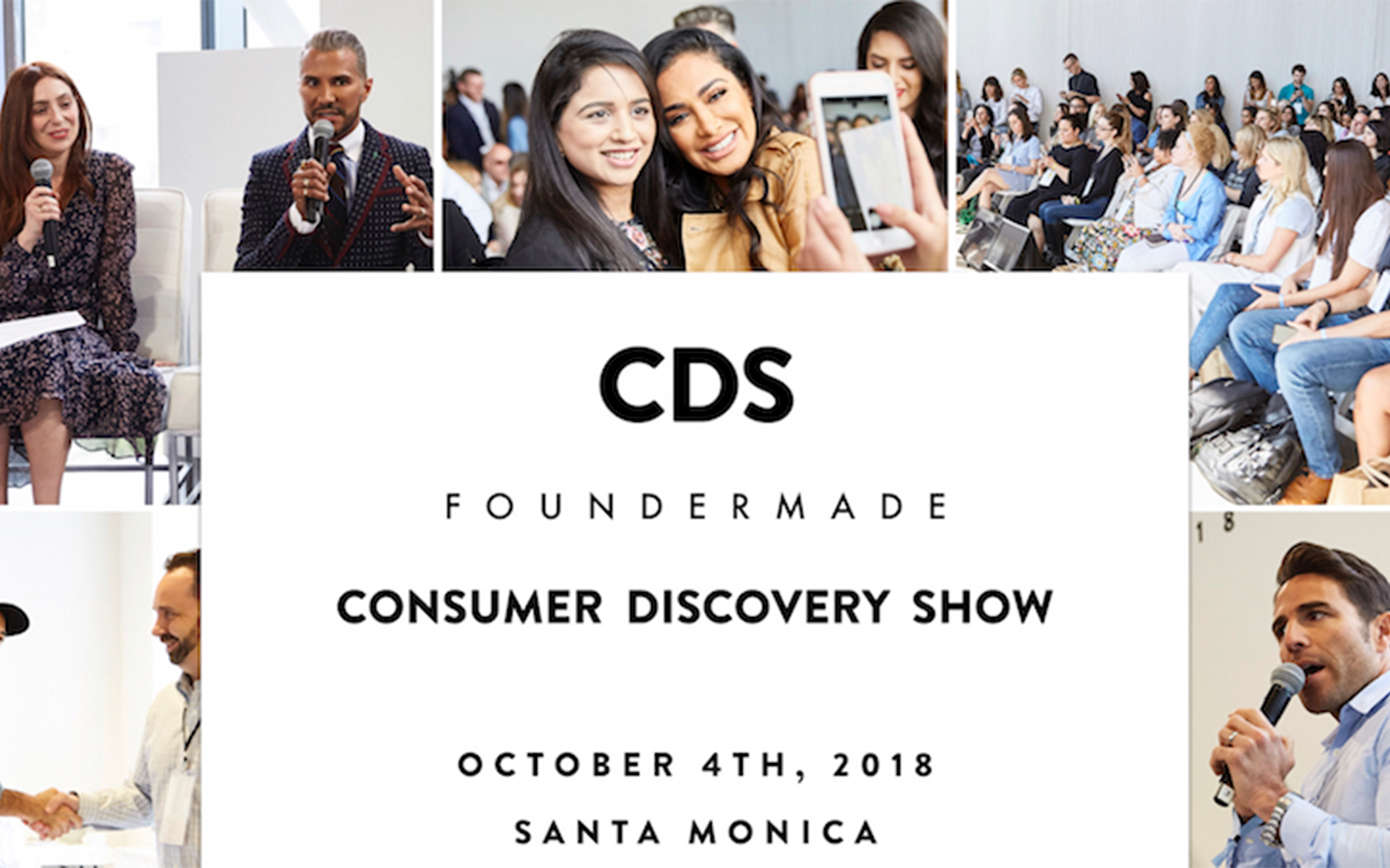 We'll be at FounderMade's Consumer Discovery Show!