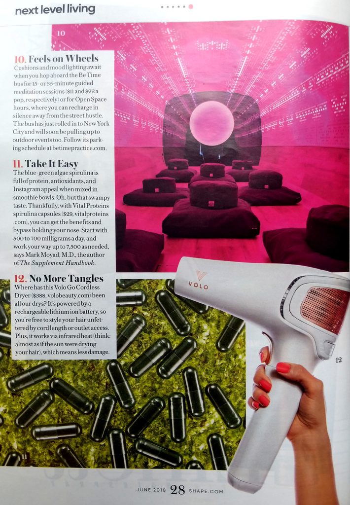 VOLO Beauty Cordless Hair Dryer in Shape Magazine