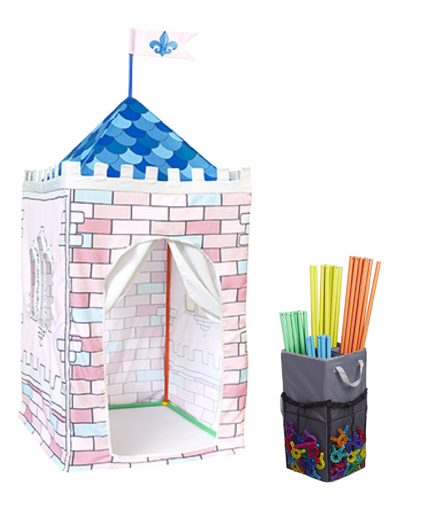 Princess Castle Play Tent and Storage Organizer Bundle
