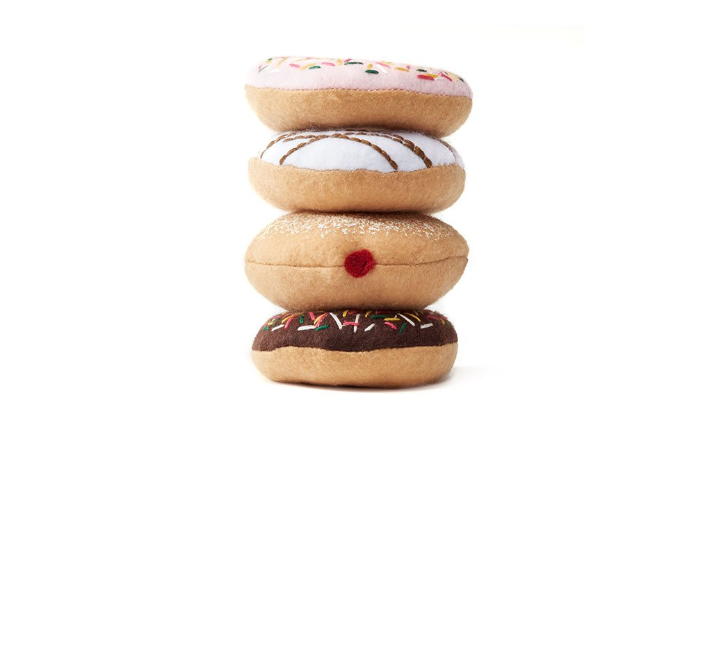 Stack of Felt Donuts