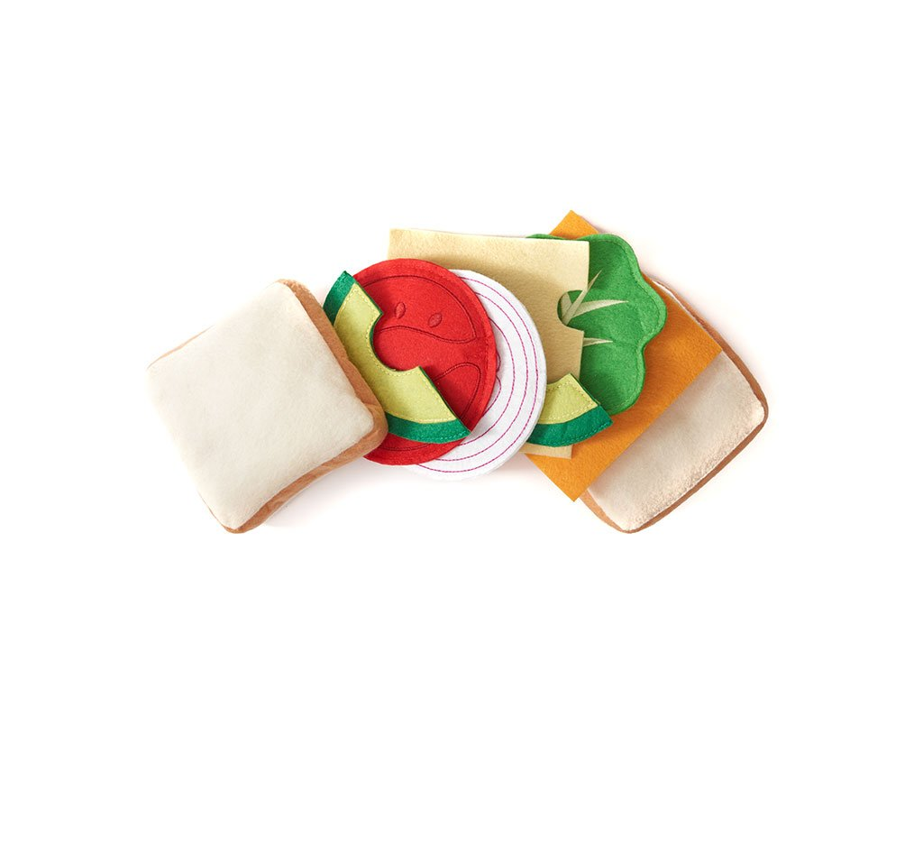 Felt Sandwich Play Food