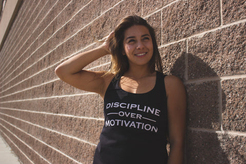 Discipline Over Motivation Racerback