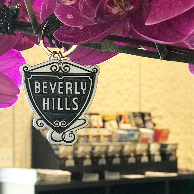 Beverly Hills Shield Keychain