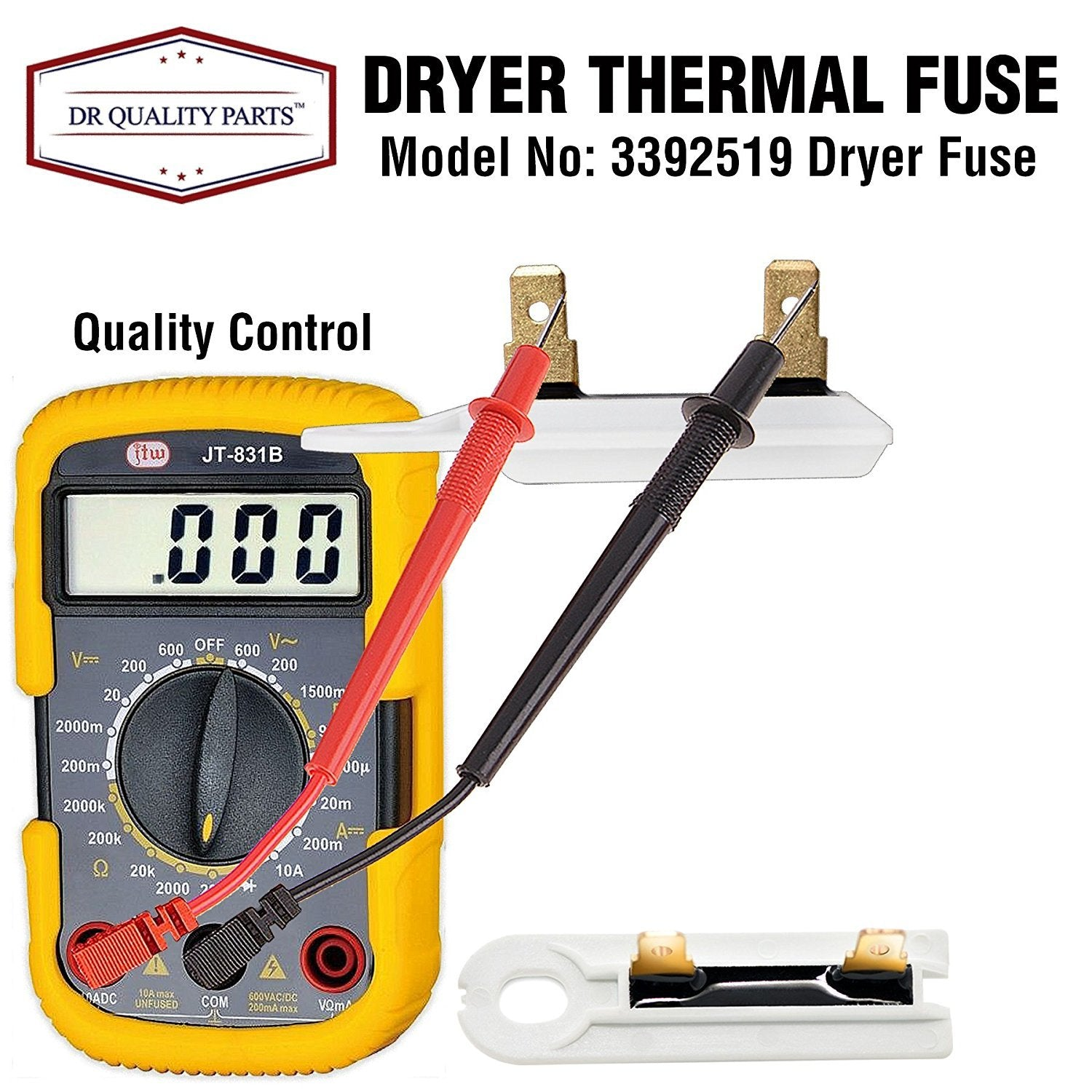 Replacement Part for 3392519 Dryer Thermal Fuse DR Quality Parts