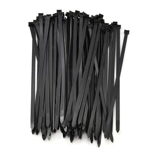 Multi-Purpose Strong Cable Ties 8 inch (Pack of 1000), 50 lbs, Black, Self Locking Zip TIes (10 packs of 100) 1000 Total