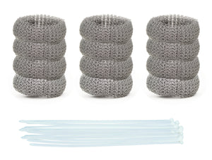 Pack of 12 Washing Machine Lint Traps Quaity Snares and Rust Proof Stainless Steel Mesh with Ties