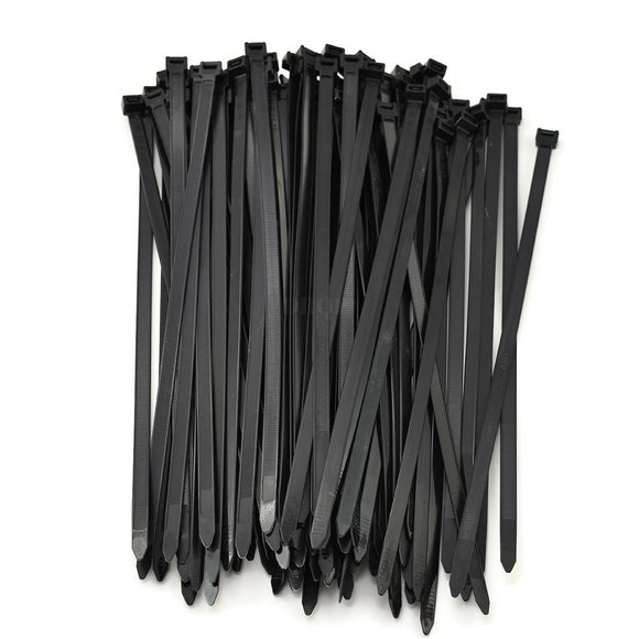 Multi-Purpose Strong Cable Ties (Pack of 100), 50 lbs, Black, Self Locking Zip TIes (8 inch)