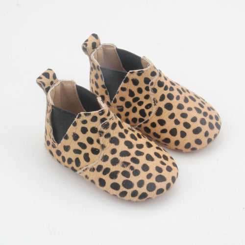 Sierra Leather Grip Sole Boots- Leopard
