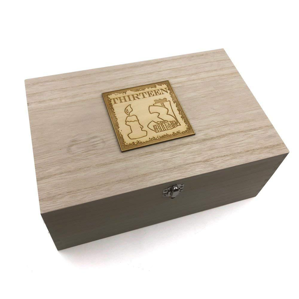 13th Birthday Gift Large Memories Keepsake Box - ukgiftstoreonline