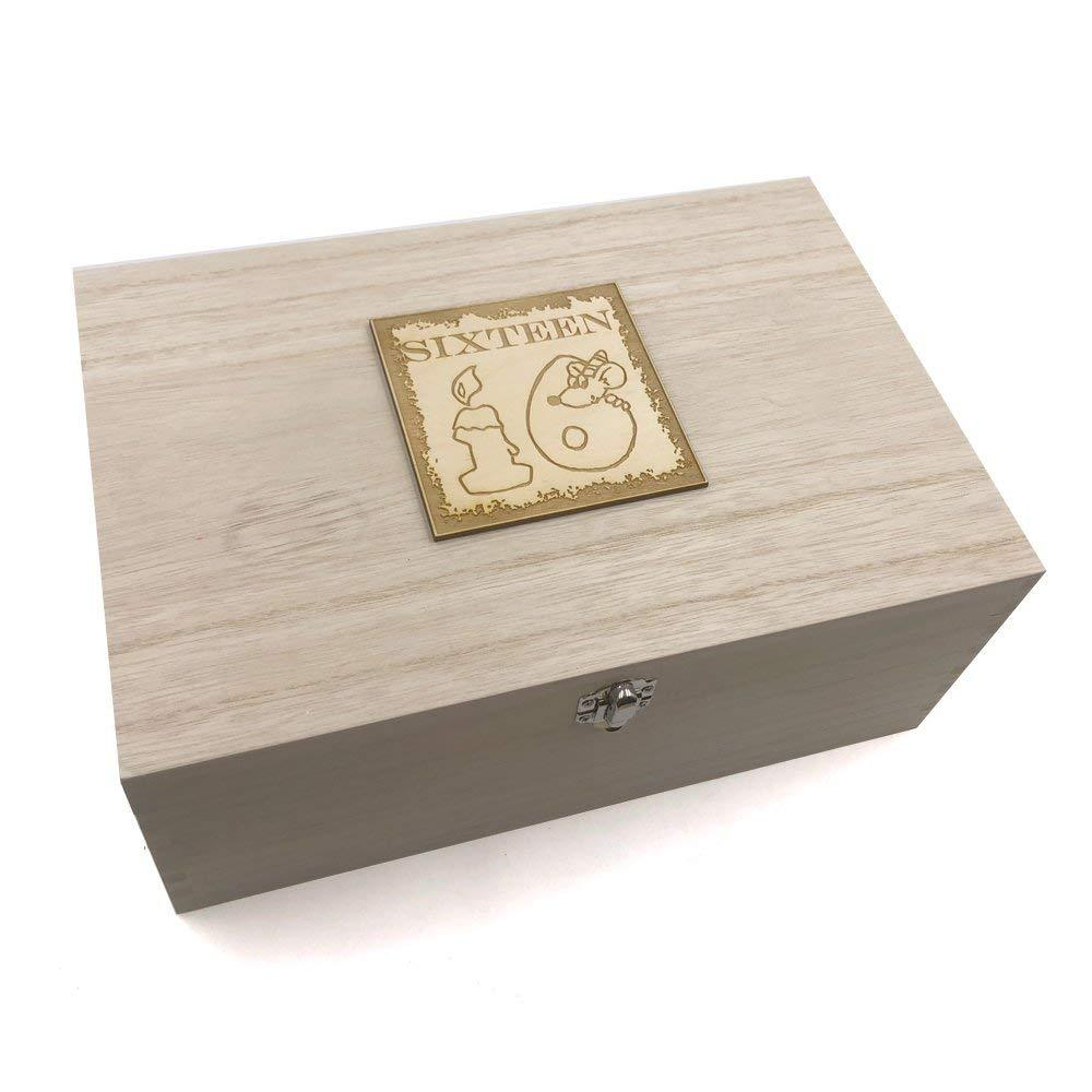 16th Birthday Gift Large Memories Keepsake Box - ukgiftstoreonline