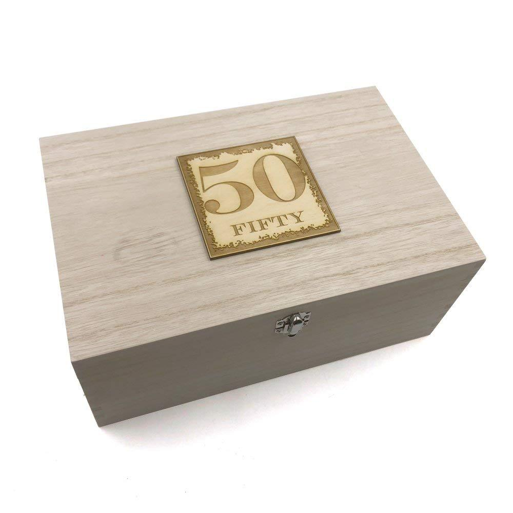50th Birthday Gift Large Memories Keepsake Box - ukgiftstoreonline