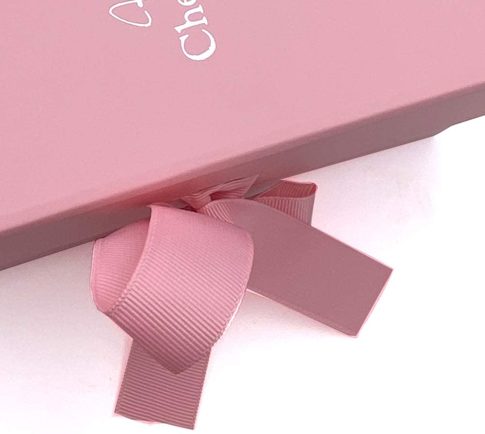ukgiftstoreonline Pink Friends Keepsake Memory Box Gift With Silver Heart Print