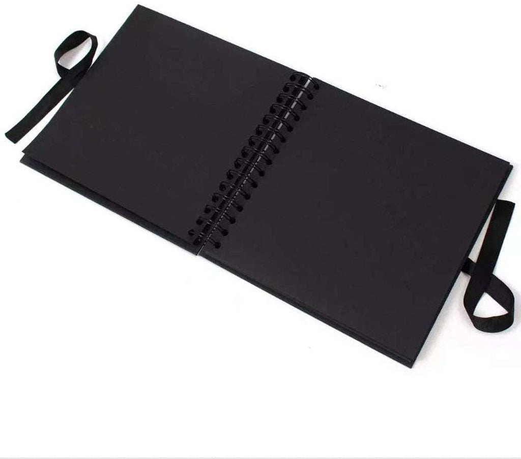 Nanny Black Scrapbook Guest Book Or Photo Album with Silver Script