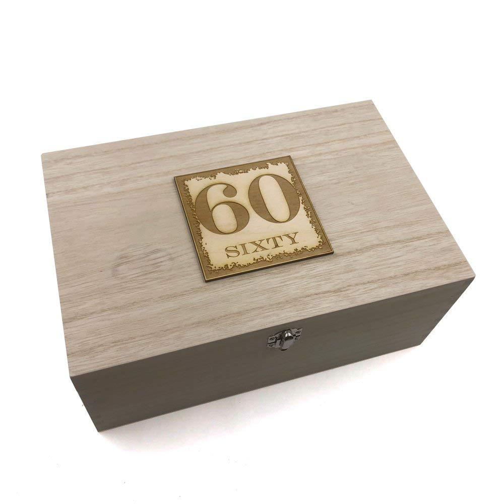 60th Birthday Gift Large Memories Keepsake Box - ukgiftstoreonline