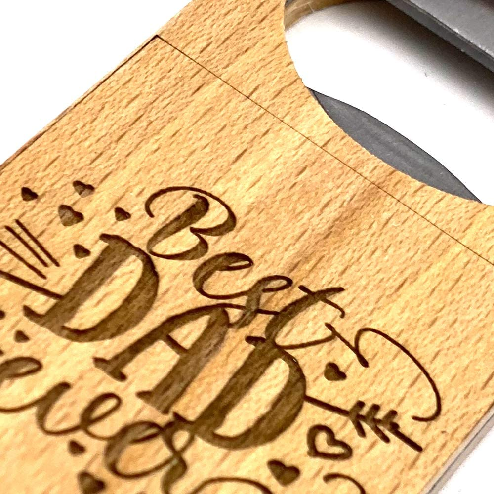 Personalised Best Dad Ever Waiter Style Bottle Opener Gift