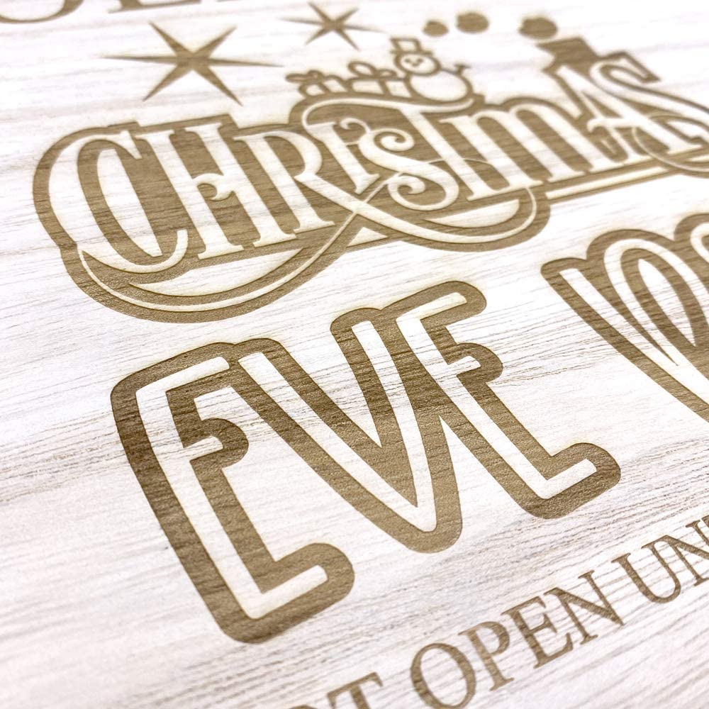ukgiftstoreonline Personalised Wooden Christmas Eve Crate Box