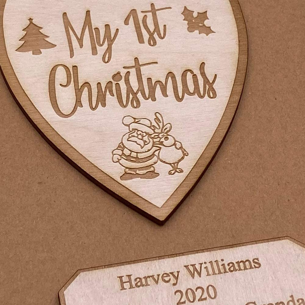 Personalised My First Christmas Brown Scrapbook Photo Album