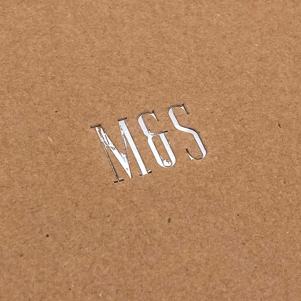 Personalised Initials Metal Stamped Brown Scrapbook Photo Album Or Guest Book
