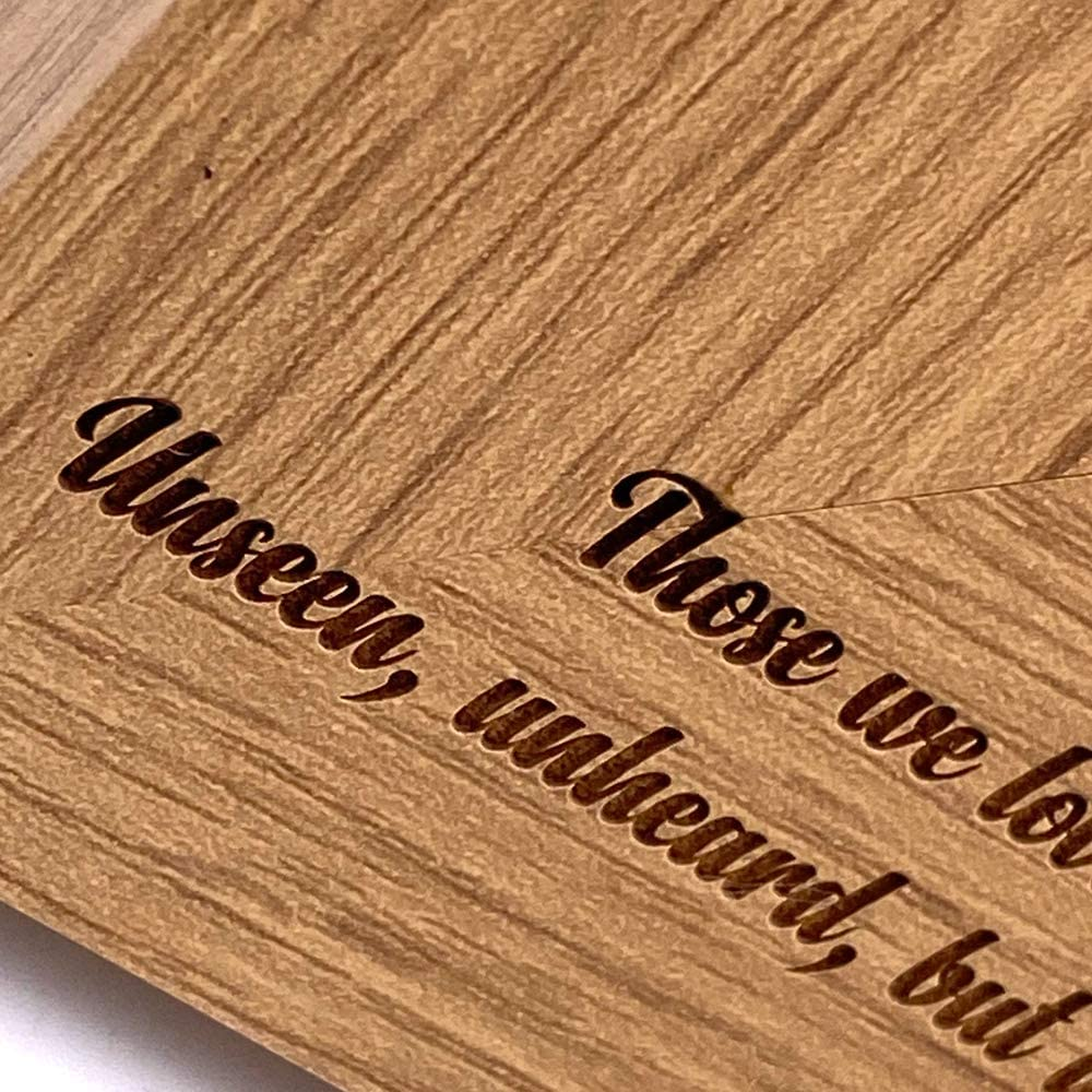 ukgiftstoreonline Dad In Loving Memory Remembrance Engraved Portrait Wooden Photo Frame Gift