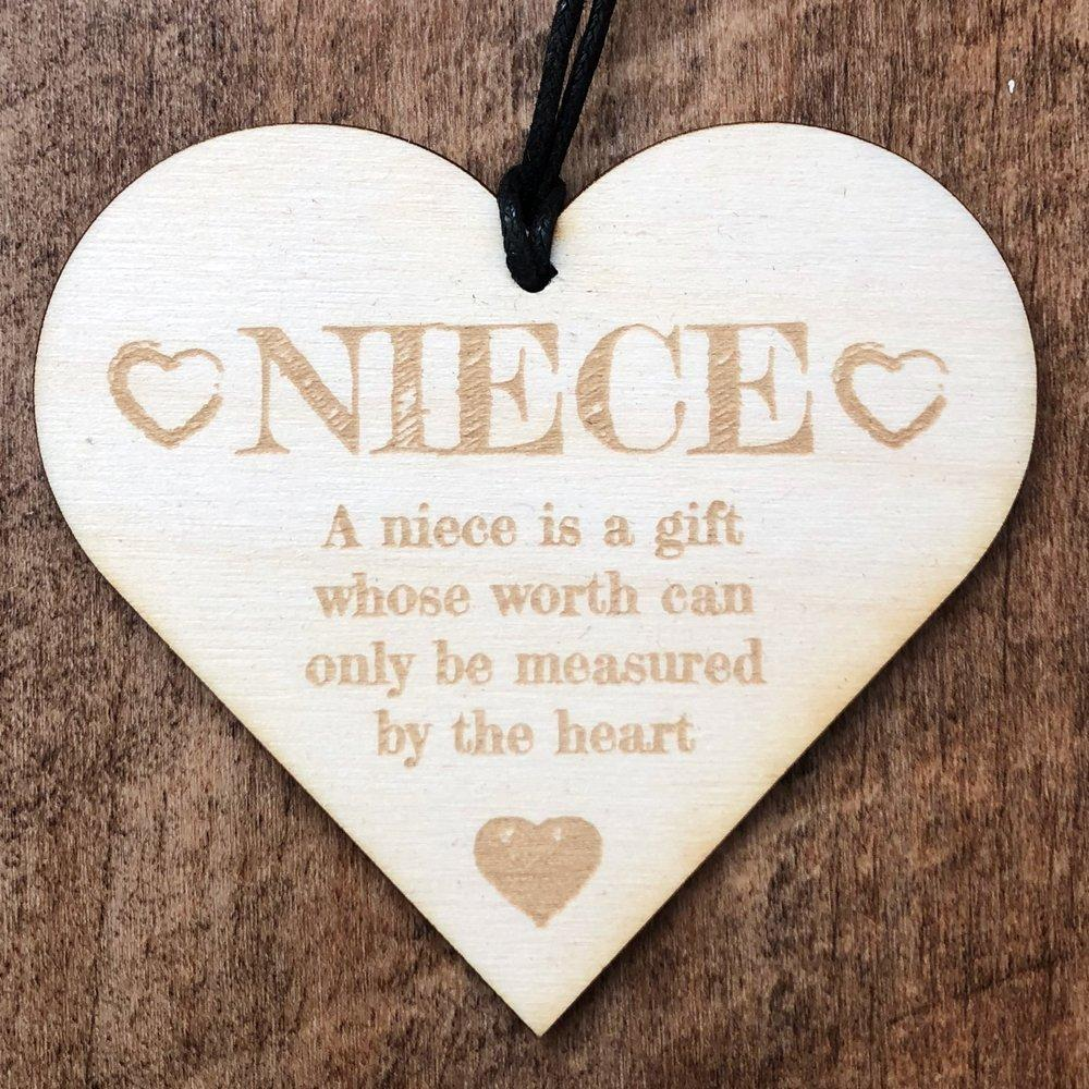 A Niece Is A Gift Hanging Heart Plaque Gift - ukgiftstoreonline