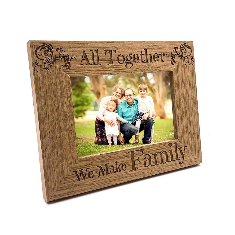 All Together We Make Family Wooden Photo Frame Gift - ukgiftstoreonline