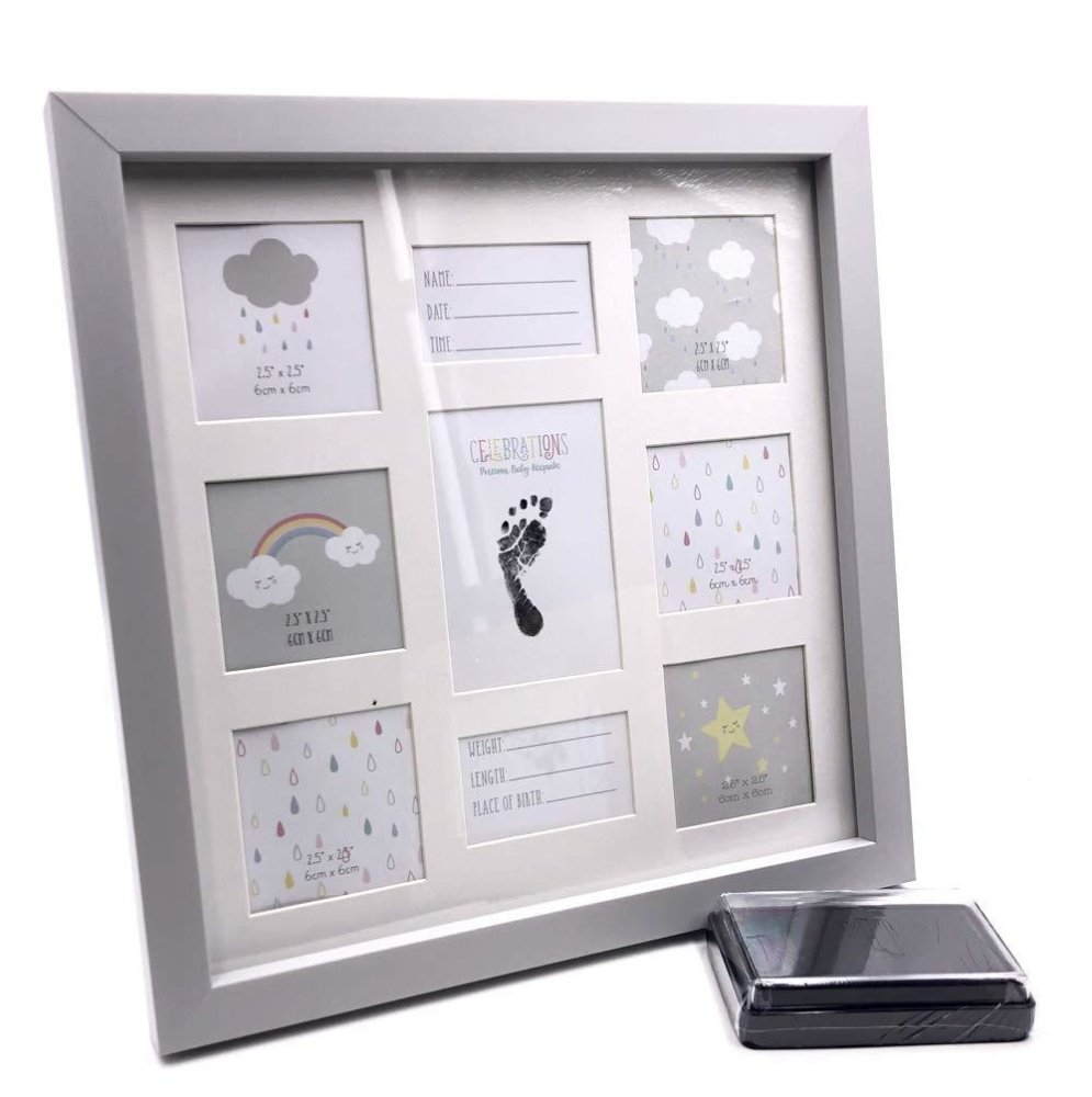 Baby Keepsake Photo Frame With Foot Print and Ink Gift - ukgiftstoreonline