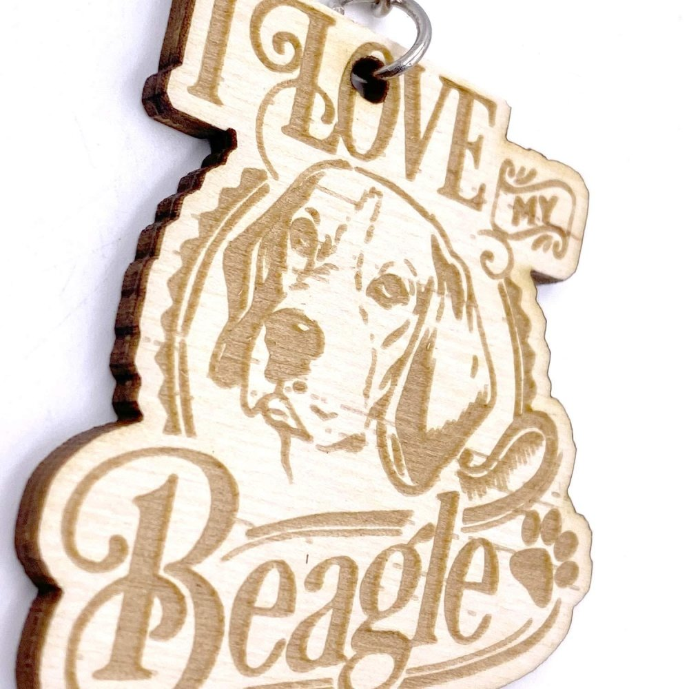 Beagle Dog keyring or Bag Charm Gift - ukgiftstoreonline
