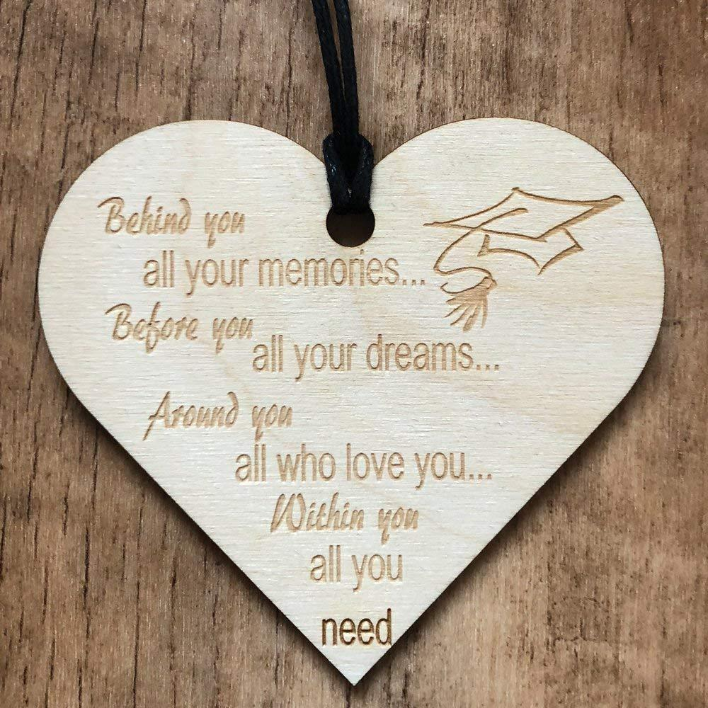 Behind You All Your Memories Graduation Wooden Plaque Gift - ukgiftstoreonline