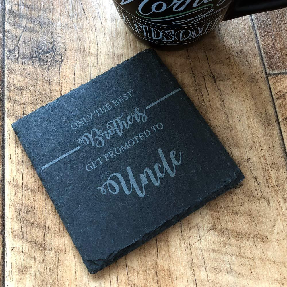 Best Brothers Get Promoted To Uncle Slate Coaster Gift - ukgiftstoreonline