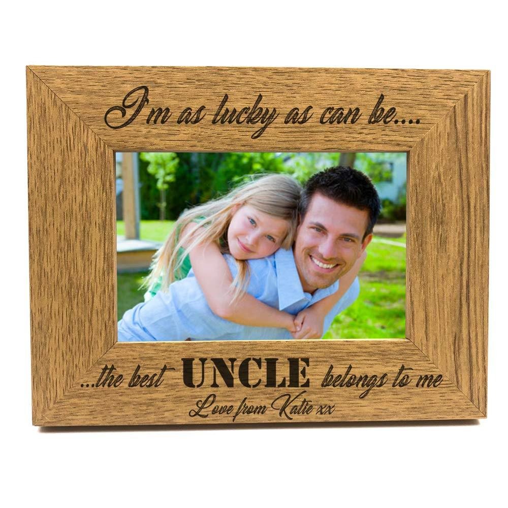 Best Uncle Belongs To Me Personalised Engraved Photo Frame Gift - ukgiftstoreonline