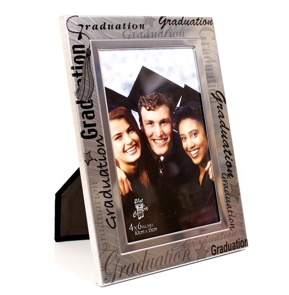 Black and Silver Graduation Photo Frame - ukgiftstoreonline