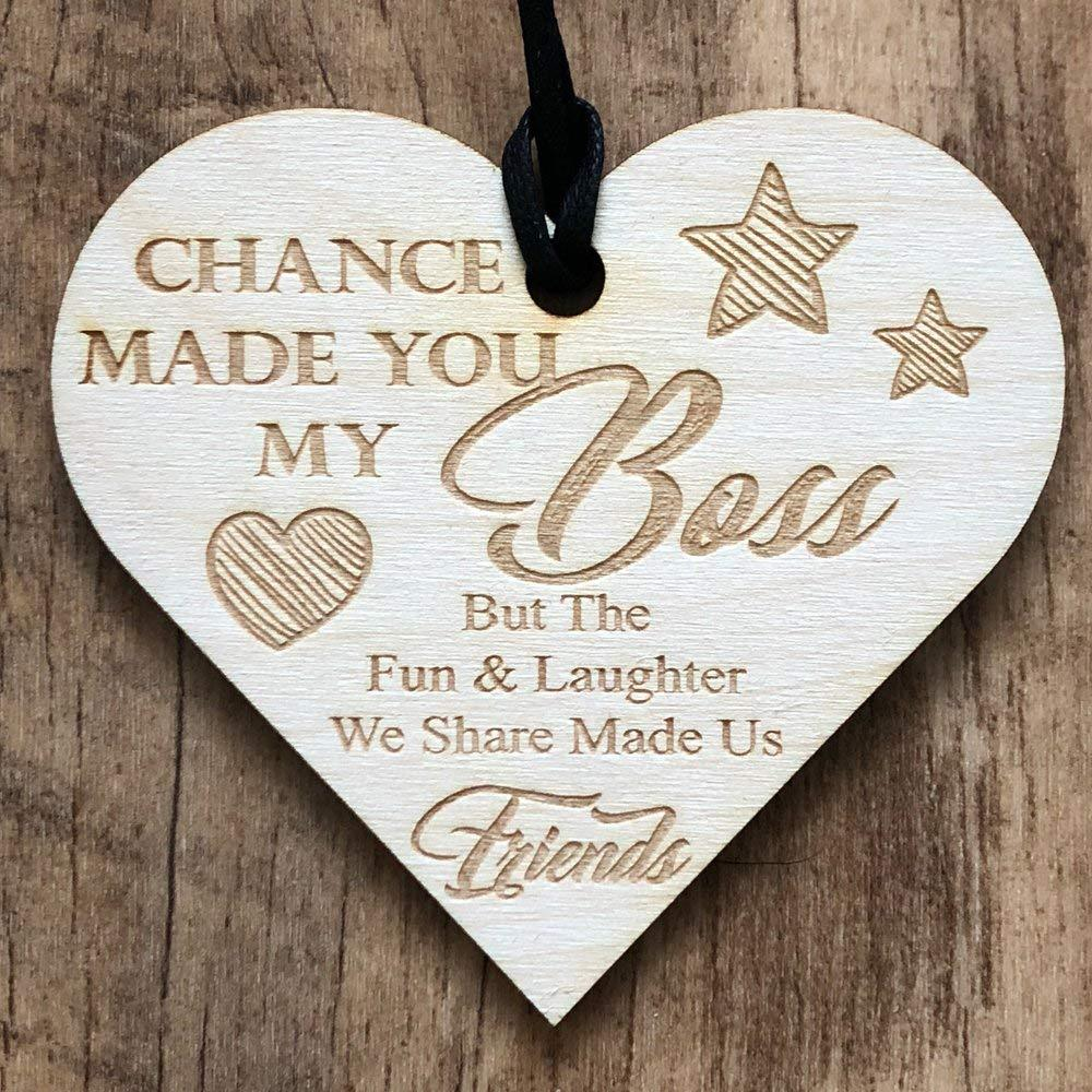 Boss Fun & Laughter Friends Manager Work Colleague Leaving Heart Gift - ukgiftstoreonline