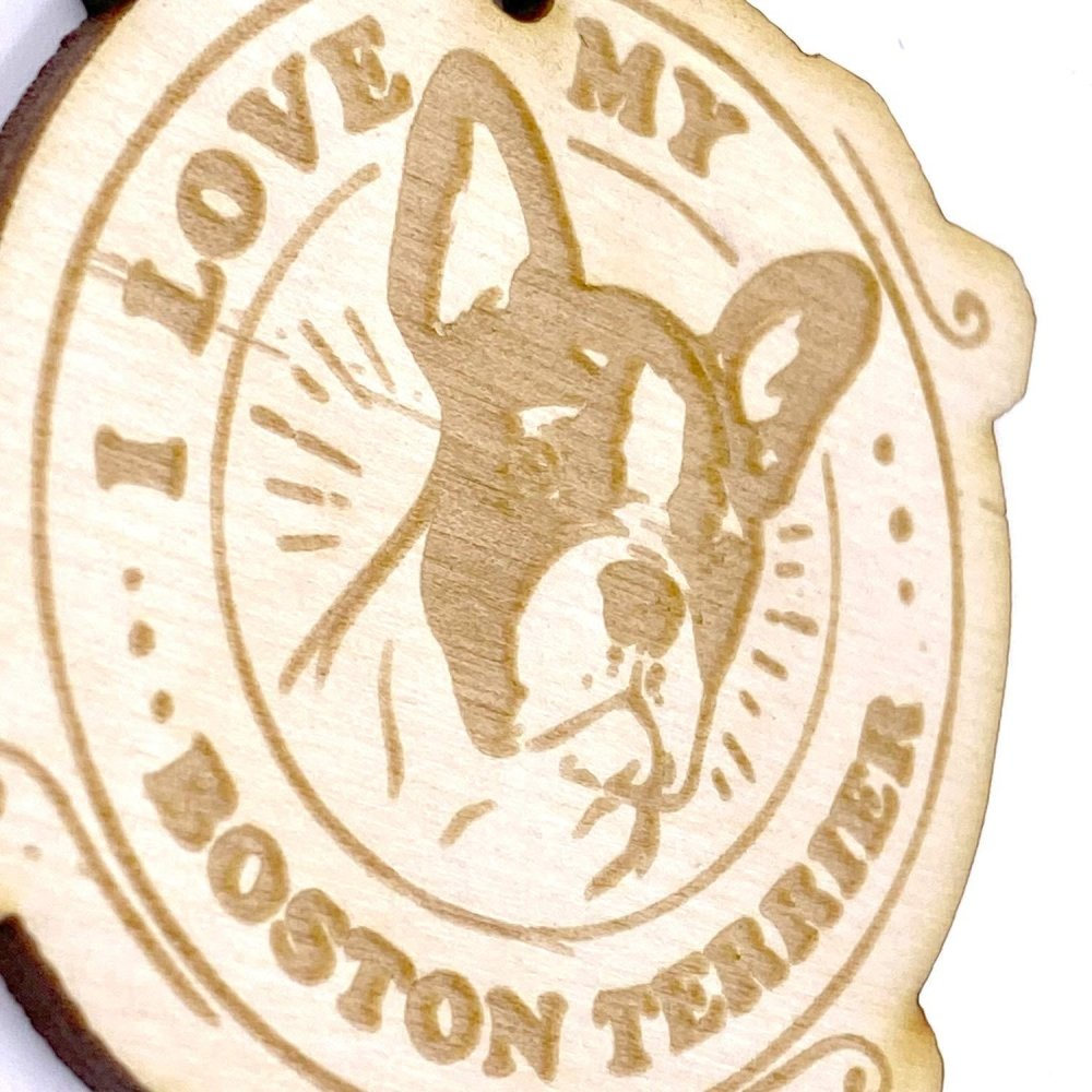 Boston Terrier Dog keyring or Bag Charm Gift - ukgiftstoreonline