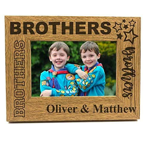 Brothers Sentiment Personalised Photo Frame Gift - ukgiftstoreonline