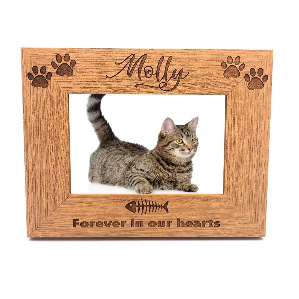 Cat Remembrance Personalised Engraved Photo Frame Gift - ukgiftstoreonline