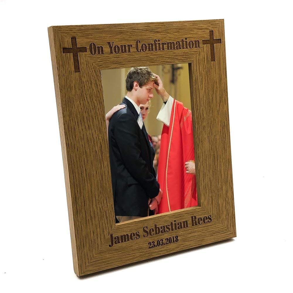 Confirmation Gift Personalised Engraved Wooden Photo Frame - ukgiftstoreonline