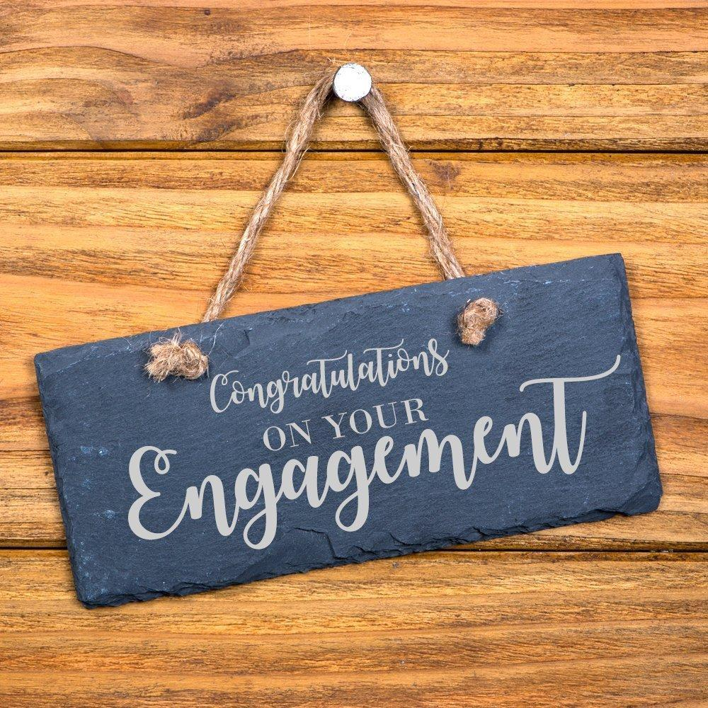 Congratulations On Your Engagement hanging slate gift - ukgiftstoreonline