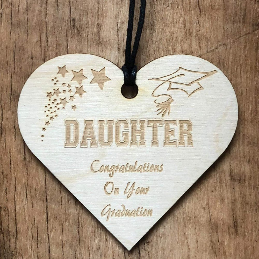 Daughter Graduation Wooden Plaque Gift - ukgiftstoreonline