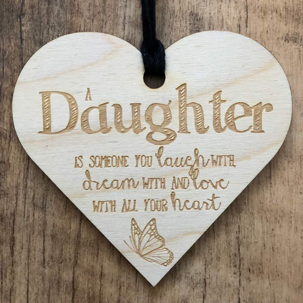 Daughter Love All Your Heart Wooden Plaque Gift - ukgiftstoreonline