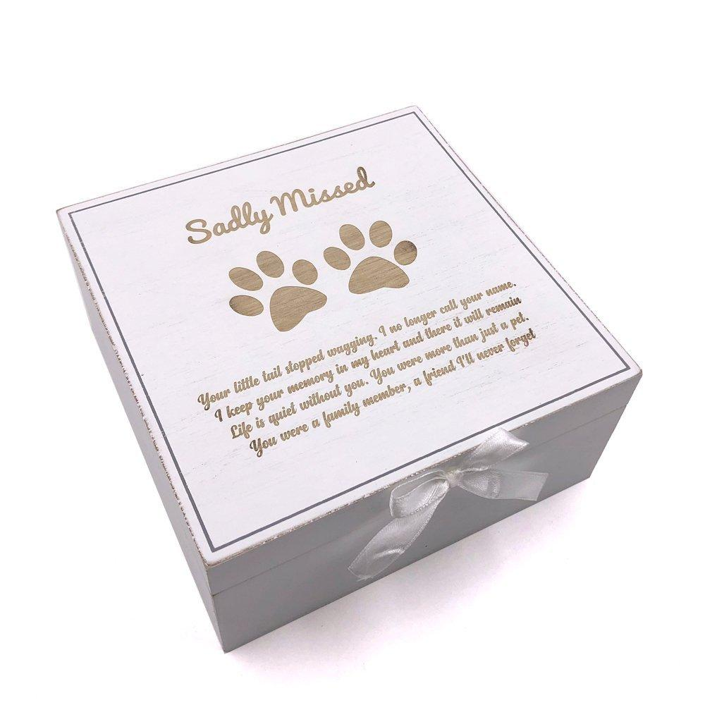 Dog Memorial Box Vintage Style wooden Memories - ukgiftstoreonline