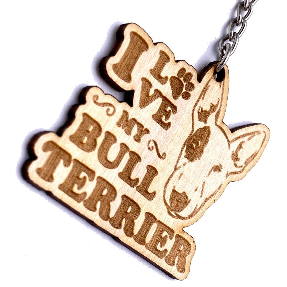 English Bull Terrier keyring or Bag Charm Gift - ukgiftstoreonline