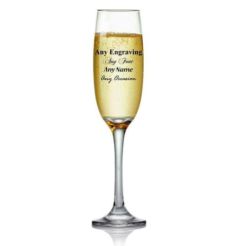 Engraved Personalised Champagne Or Prosecco Glass Gift Boxed - ukgiftstoreonline