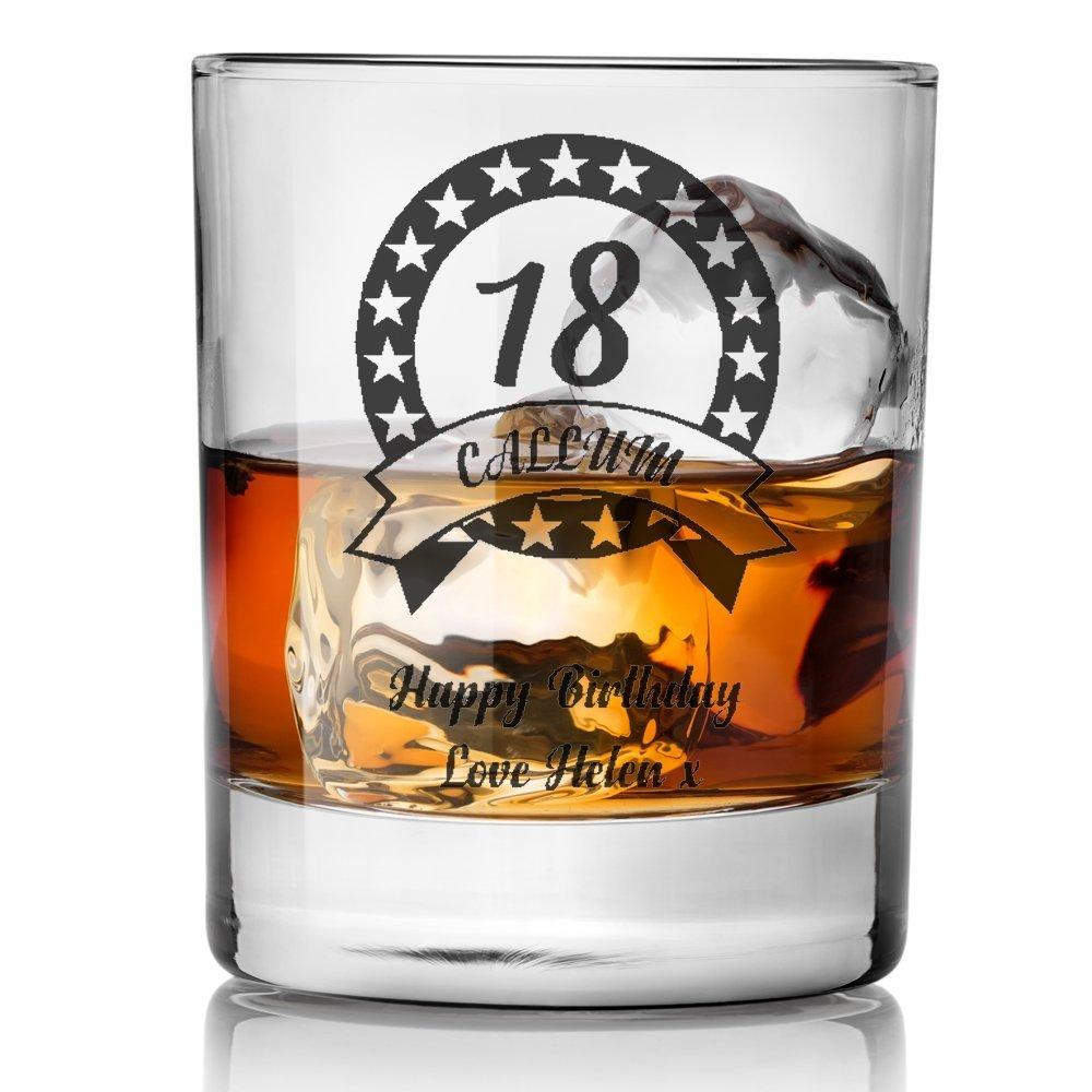 Engraved/Personalised BIRTHDAY Whisky Glass - Gift For Boys 18th/21st/30th/40th/50th/60th/65th/70th - ukgiftstoreonline