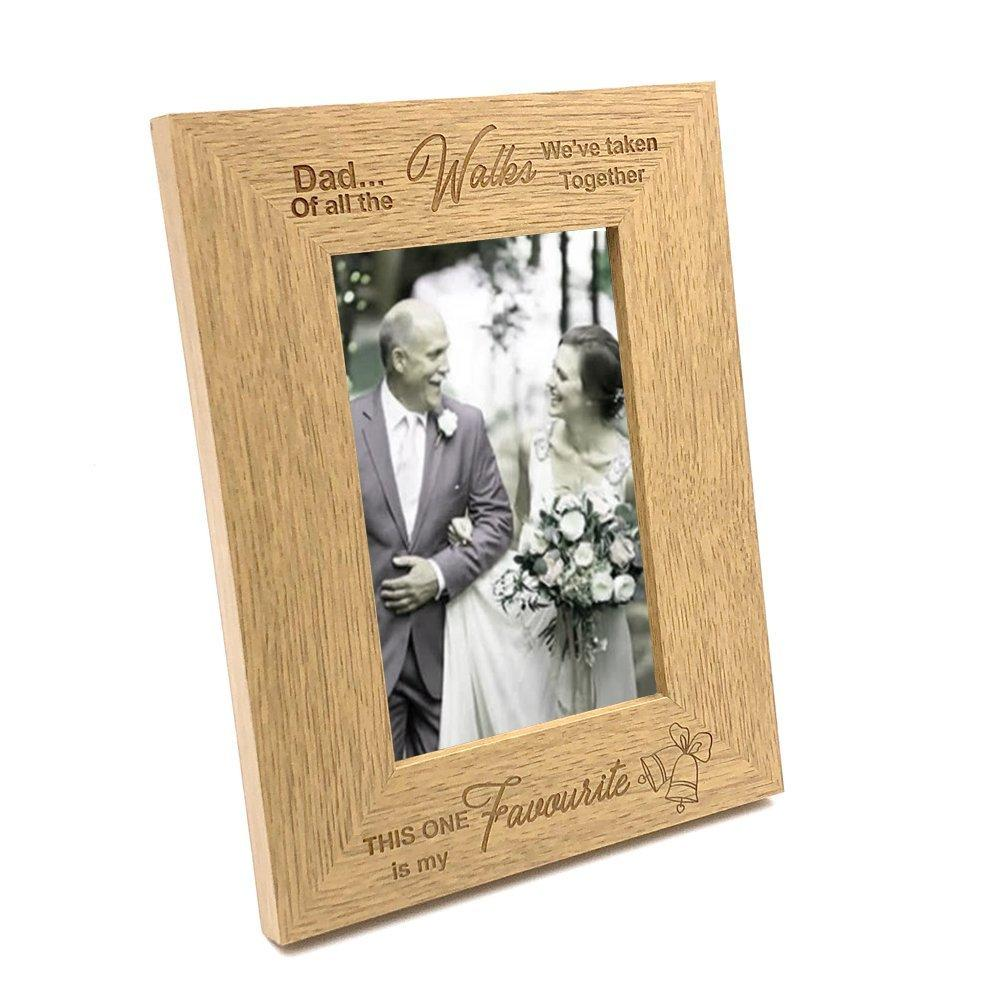 Father Of The Bride Gift Favourite Walk Wooden Photo Frame - ukgiftstoreonline