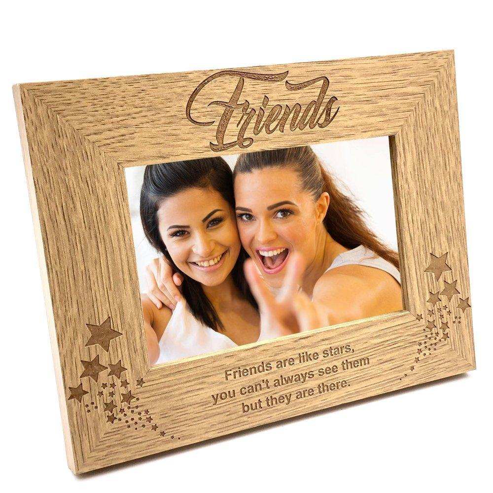 Friends Are Like Stars Wooden Photo Frame Gift - ukgiftstoreonline